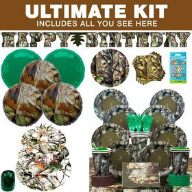 Next Camo Party Ultimate Tableware Kit Serves 8+
