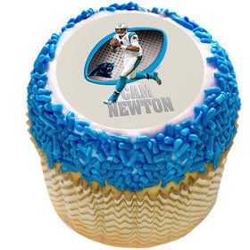 "NFL Carolina Panthers Cam Newton 2"" Edible Cupcake Topper (12 Images)"