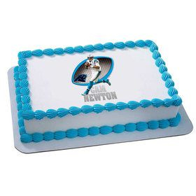 NFL Carolina Panthers Cam Newton Quarter Sheet Edible Cake Topper (Each)