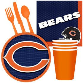 NFL Chicago Bears Tailgate Party Pack (For 16 Guests)