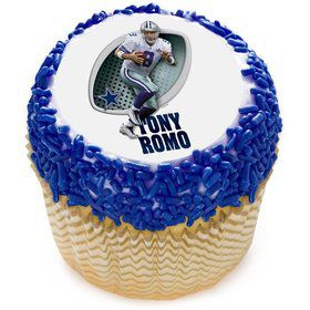 "NFL Dallas Cowboys Tony Romo 2"" Edible Cupcake Topper (12 Images)"