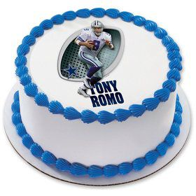 "NFL Dallas Cowboys Tony Romo 7.5"" Round Edible Cake Topper (Each)"