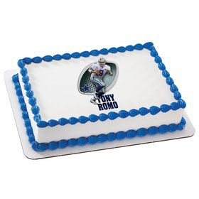 NFL Dallas Cowboys Tony Romo Quarter Sheet Edible Cake Topper (Each)