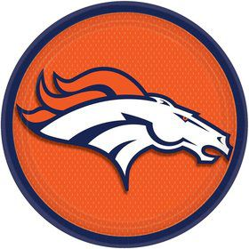 "Nfl Denver Broncos 9"" Luncheon Plates (8 Pack)"