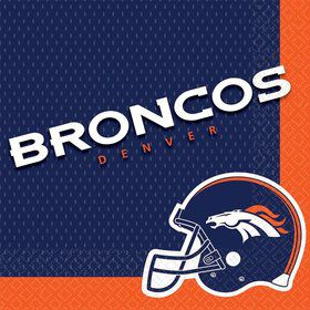Nfl Denver Broncos Luncheon Napkins (16 Pack)