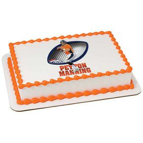 NFL Denver Broncos Peyton Manning Quarter Sheet Edible Cake Topper (Each)