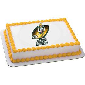 NFL Green Bay Packers Aaron Rodgers Quarter Sheet Edible Cake Topper (Each)