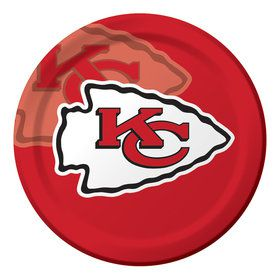 "NFL Kansas City Chiefs 9"" Luncheon Plates (8 Count)"