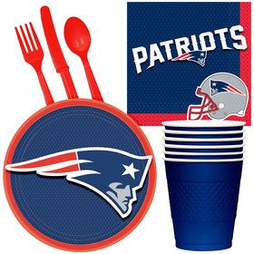 NFL New England Patriots Tailgate Party Pack (For 16 Guests)