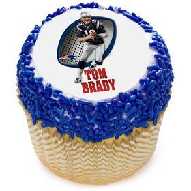 "NFL New England Patriots Tom Brady 2"" Edible Cupcake Topper (12 Images)"