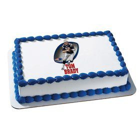 NFL New England Patriots Tom Brady Quarter Sheet Edible Cake Topper (Each)