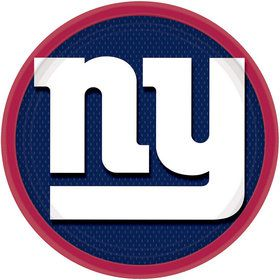 "Nfl New York Giants 9"" Luncheon Plates (8 Pack)"