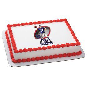 NFL New York Giants Eli Manning Quarter Sheet Edible Cake Topper (Each)