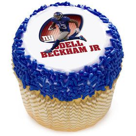 "NFL New York Giants Odell Beckham Jr. 2"" Edible Cupcake Topper (12 Images)"