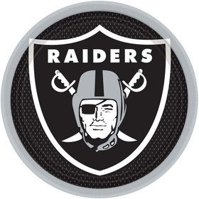 "NFL Oakland Raiders 9"" Luncheon Plates (8 Pack)"