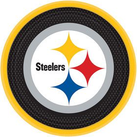 "Nfl Pittsburgh Steelers 9"" Luncheon Plates (8 Pack)"