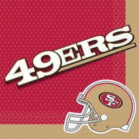 Nfl San Francisco 49Ers Luncheon Napkins (16 Pack)