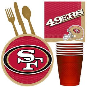 NFL San Francisco 49ers Tailgate Party Pack (For 16 Guests)