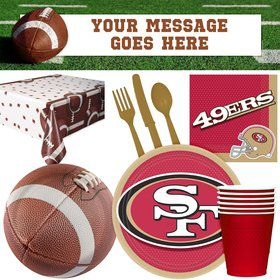 NFL San Fransisco 49ers Tailgate Decoration Party Pack (for 16 Guests)