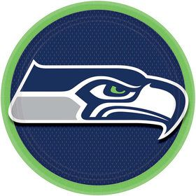 "NFL Seattle Seahawks 9"" Luncheon Plates (8 Pack)"