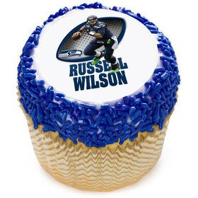 "NFL Seattle Seahawks Russell Wilson 2"" Edible Cupcake Topper (12 Images)"