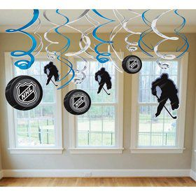 NHL Hockey Hanging Swirl Decorations (Each)