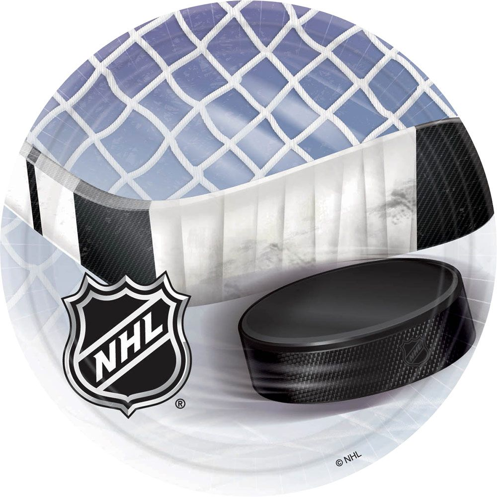 Nhl Hockey Luncheon Plates (8 Pack) BB553834