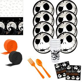 Nightmare Before Christmas Deluxe Tableware Kit (Serves 8)