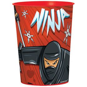 Ninja 16oz Plastic Favor Cup (Each)