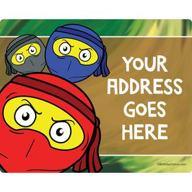 Ninja Master Personalized Address Labels (Sheet of 15)