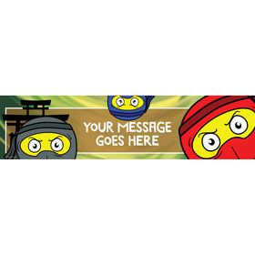 Ninja Master Personalized Banner (Each)