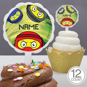 Ninja Master Personalized Cupcake Picks (12 Count)