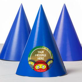 Ninja Master Personalized Party Hats (8 Count)