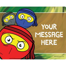 Ninja Master Personalized Rectangular Stickers (Sheet of 15)