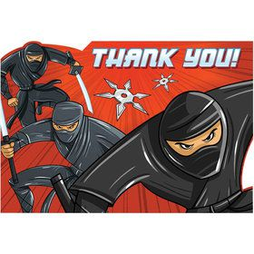 Ninja Thank You Poscards (8 Count)