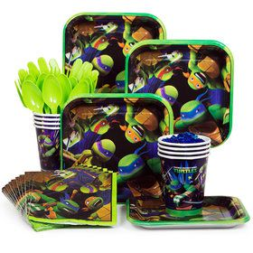 Ninja Turtle Standard Birthday Party Tableware Kit Serves 8