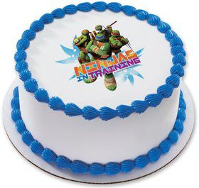 "Ninja Turtles 7.5"" Round Edible Cake Topper (Each)"
