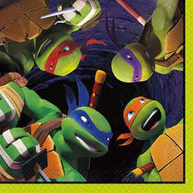 Ninja Turtles Beverage Napkins (16 Count)