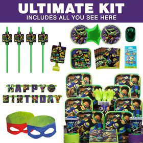 Ninja Turtles Birthday Party Ultimate Tableware Kit Serves 8