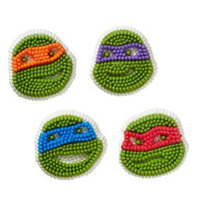 Ninja Turtles Edible Icing Decorations (12 Pack)