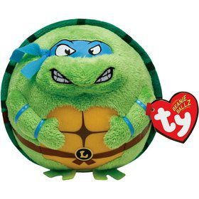 "Ninja Turtles Leonardo 5"" TY Beanie Ballz (Each)"