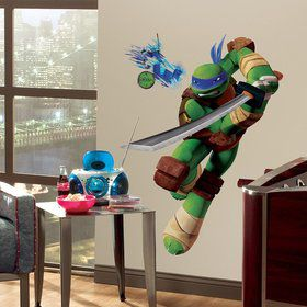 Ninja Turtles Leonardo Giant Wall Decal (16 Piece)