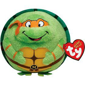 "Ninja Turtles Michelangelo 5"" TY Beanie Ballz (Each)"