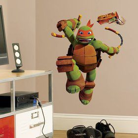 Ninja Turtles Michelangelo Giant Wall Decal (19 Piece)
