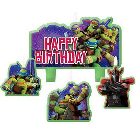 Ninja Turtles Mini Molded Birthday Candles (4 Pack)