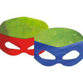 Ninja Turtles Party Masks (8 Count)