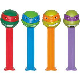 Ninja Turtles Pez Dispenser and Candy Set (Each)