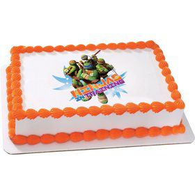 Ninja Turtles Quarter Sheet Edible Cake Topper (Each)
