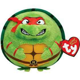 "Ninja Turtles Raphael 5"" TY Beanie Ballz (Each)"