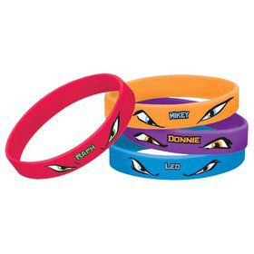 Ninja Turtles Rubber Bracelets (4 Pack)
